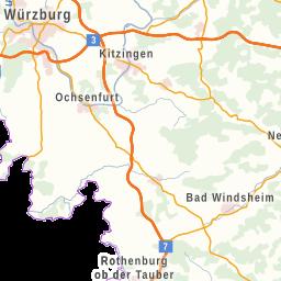 Karte Würzburg Und Umgebung.Karte Das Fränkische Weinland