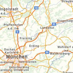 Karte Würzburg Und Umgebung.Frankenkarte
